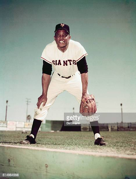 Willie Mays of the New York Giants is shown in this photograph