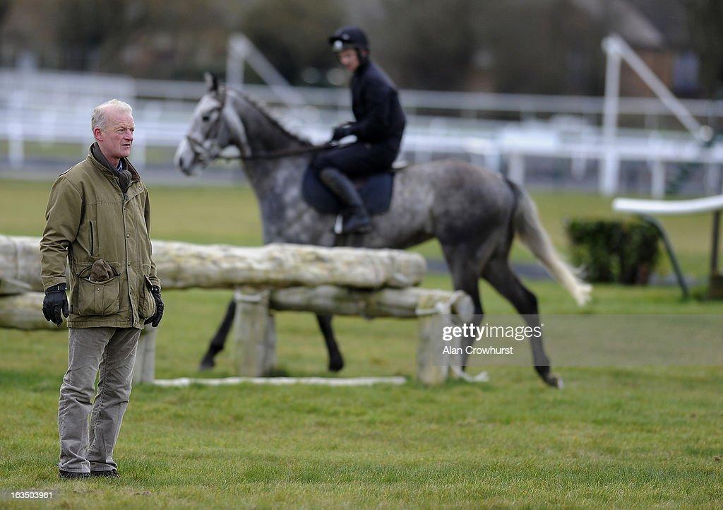 Willie Mullins poses at Cheltenham racecourse on March 11, 2013 in Cheltenham, England.