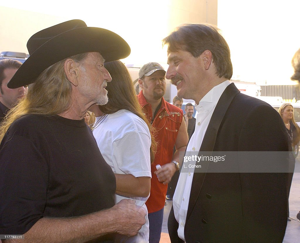 Willie Nelson and Jeff Foxworthy during 39th Annual Academy of Country Music Awards - Backstage and Audience at Mandalay Bay Resort and Casino in Las Vegas, Nevada, United States.