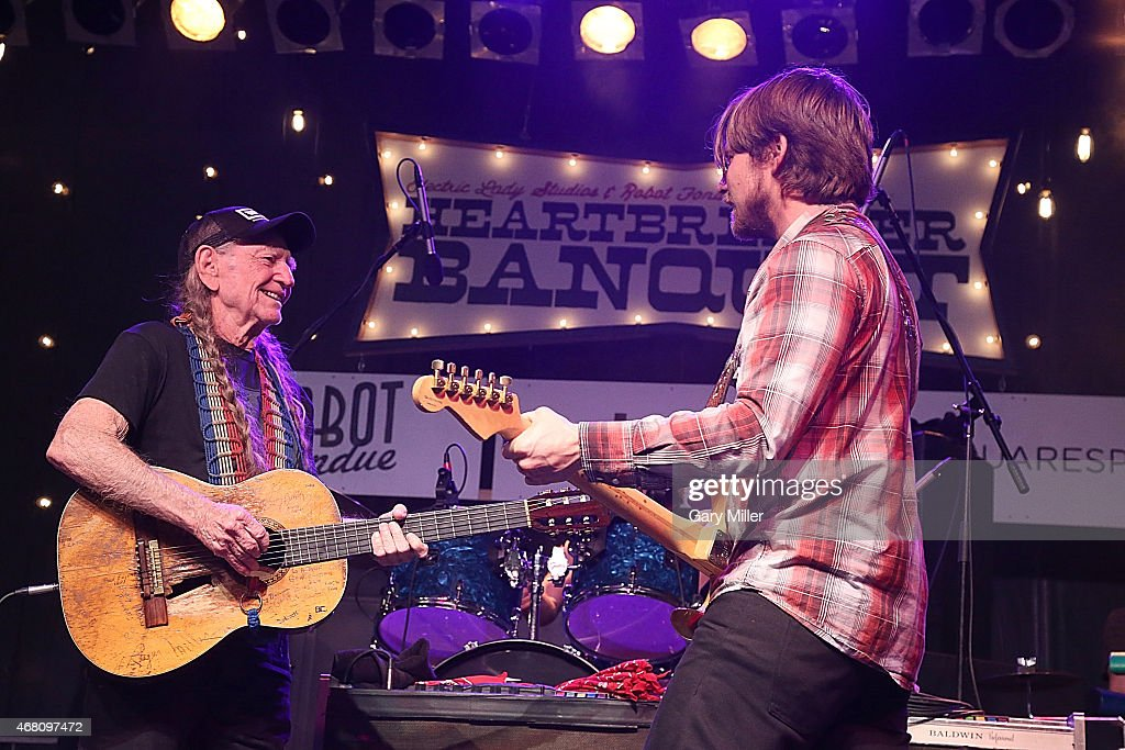 Willie Nelson and Lukas Nelson perform in concert during the Heartbreaker Banquet on March 19 2015 in Luck Texas