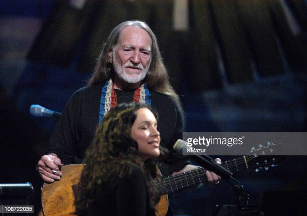 Willie Nelson and Norah Jones during 'Willie Nelson and Friends Live and Kickin'' Premieres on USA Network May 26 2003 Show at Beacon Theatre in New...