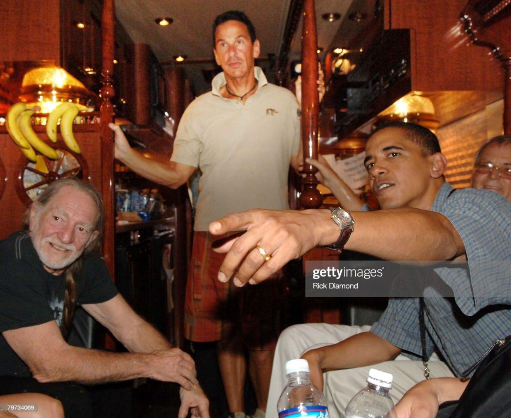 Willie Nelson and Senator Barack Obama