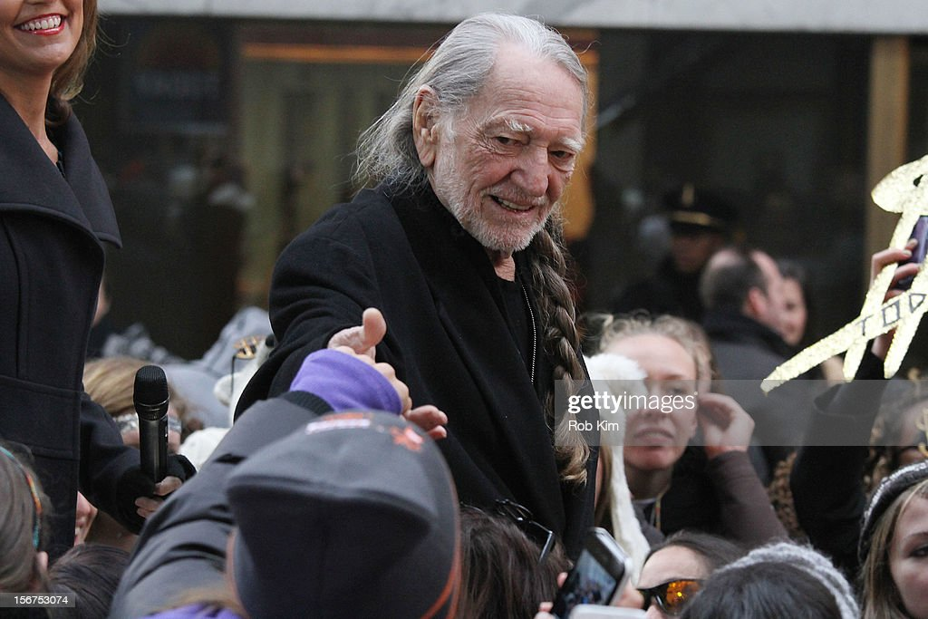 <a gi-track='captionPersonalityLinkClicked' href=/galleries/search?phrase=Willie+Nelson&family=editorial&specificpeople=203154 ng-click='$event.stopPropagation()'>Willie Nelson</a> appears on NBC's 'Today' at Rockefeller Plaza on November 20, 2012 in New York City.