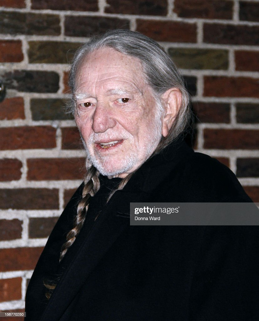 Willie Nelson arrives for 'The Late Show with David Letterman' at Ed Sullivan Theater on November 20, 2012 in New York City.