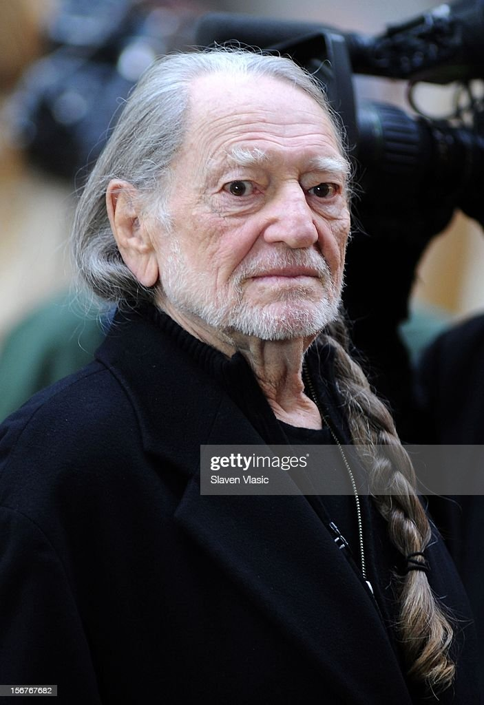 <a gi-track='captionPersonalityLinkClicked' href=/galleries/search?phrase=Willie+Nelson&family=editorial&specificpeople=203154 ng-click='$event.stopPropagation()'>Willie Nelson</a> attends NBC's 'Today' at Rockefeller Plaza on November 20, 2012 in New York City.