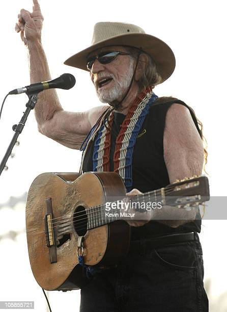 Willie Nelson during 2007 Coachella Valley Music and Arts Festival Day 3 at Empire Polo Field in Indio California United States