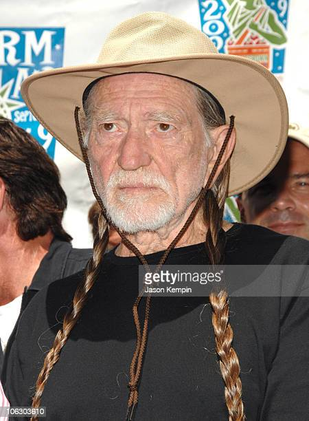Willie Nelson during Farm Aid 2007 Press Conference June 11 2007 at Luna Park Cafe Union Square Park in New York City New York United States
