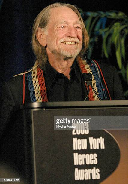 Willie Nelson during New York Chapter of The Recording Academy Celebrates Their 2003 Hero's Awards Gala at The Roosevelt Hotel in New York City New...
