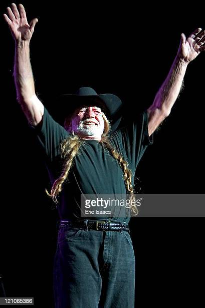 Willie Nelson during Willie Nelson in Concert at the Santa Barbara Bowl May 1 2004 at Santa Barbara CA in Santa Barbara California United States