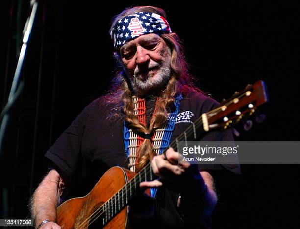 Willie Nelson during Willie Nelson Performs at the Lancaster Estate October 6 2003 at Lancaster Estate in Healdsburg California United States