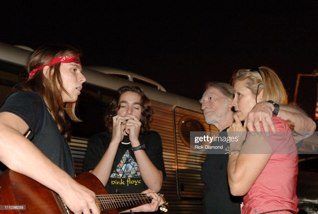Willie Nelson his wife Annie Nelson and sons during FARM AID 2005 Presented by SILK Soymilk at Tweeter Center in Tinley Park, Illinois, United States.