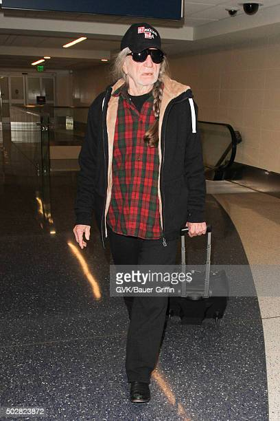 Willie Nelson is seen at LAX on December 28 2015 in Los Angeles California