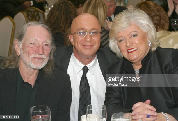 Willie Nelson Paul Shaffer and Frances W Preston