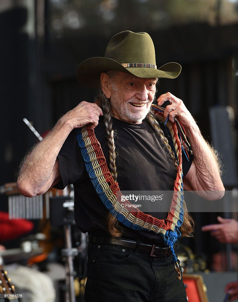 Willie Nelson performs during the 30th Anniversary Bridge School Benefit Concert at Shoreline Amphitheatre on October 23, 2016 in Mountain View, California.