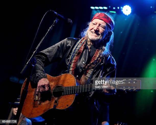 Willie Nelson performs in concert during the Luck Reunion at Luck Texas on March 16 2017 in Spicewood Texas