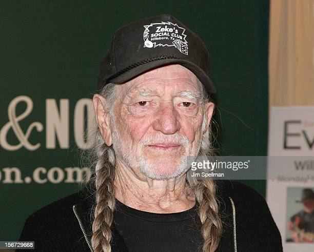 Willie Nelson promotes 'Roll Me Up and Smoke Me When I Die Musings from the Road' at Barnes Noble 5th Avenue on November 19 2012 in New York City