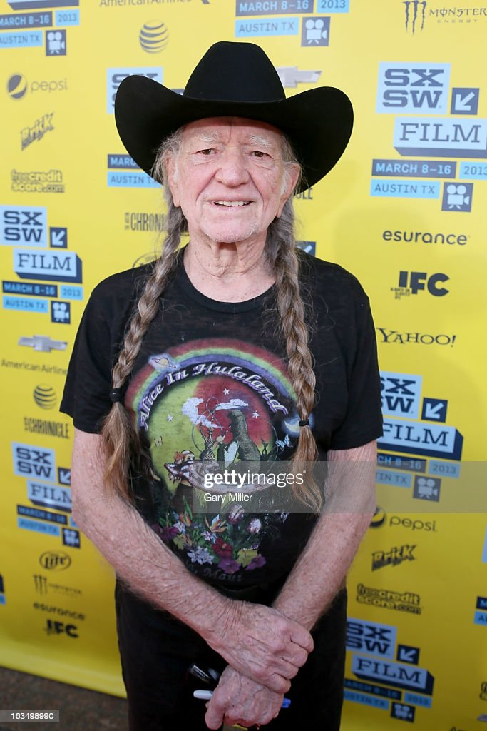 <a gi-track='captionPersonalityLinkClicked' href=/galleries/search?phrase=Willie+Nelson&family=editorial&specificpeople=203154 ng-click='$event.stopPropagation()'>Willie Nelson</a> walks the red carpet at the Paramount Theater for the new film 'When Angels Sing' during South By Southwest Film Festival on March 10, 2013 in Austin, Texas.