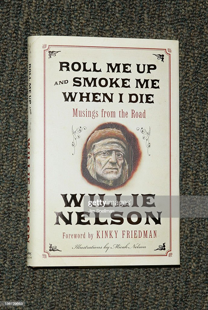 Willie Nelson's book 'Roll Me Up and Smoke Me When I Die: Musings from the Road' at Barnes & Noble, 5th Avenue on November 19, 2012 in New York City.
