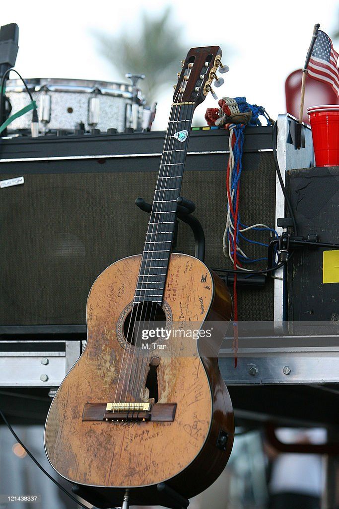 Willie Nelson's guitar 'Trigger' during The Inaugural Stagecoach Country Music Festival Day 1 at Empire Polo Field in Indio California United States