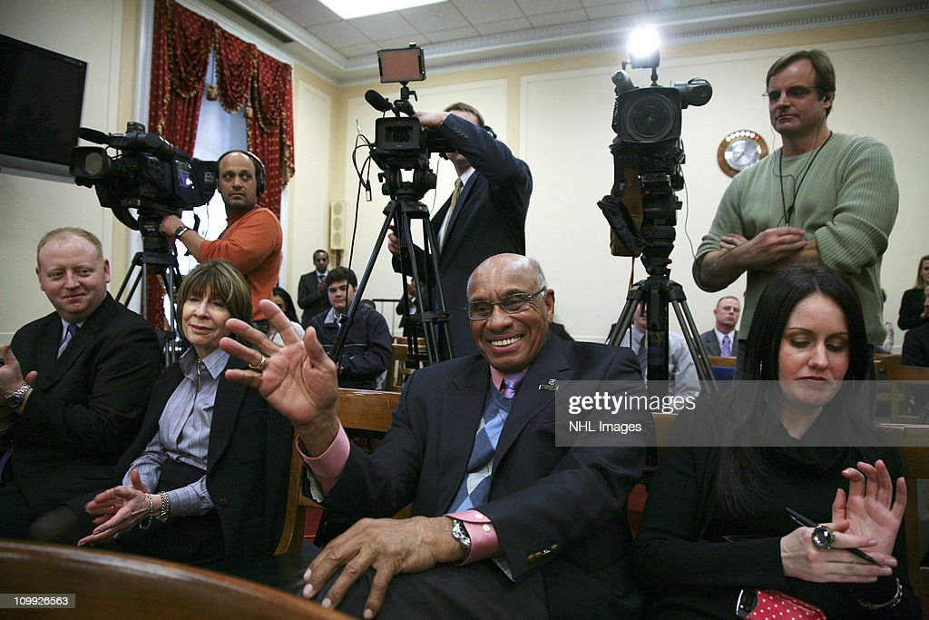 Willie O'Ree attends the Congressional Hockey Caucus Briefing at the Rayburn House Office Building on March 10, 2011 in Washington, DC.