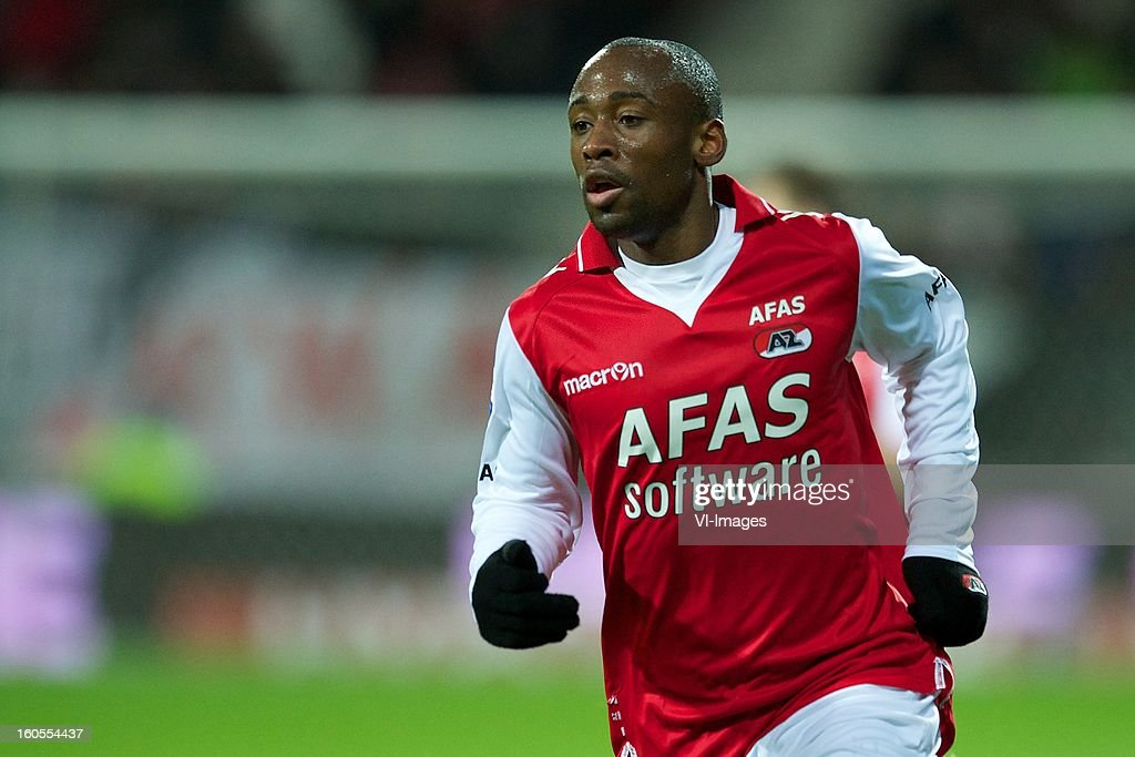 Willie Overtoom of AZ during the Dutch Eredivisie match between AZ Alkmaar and FC Groningen at the AFAS Stadium on february 2, 2013 in Alkmaar, The Netherlands