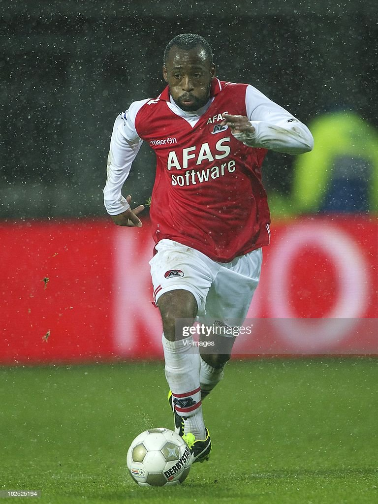 Willie Overtoom of AZ during the Dutch Eredivisie Match between AZ Alkmaar and NAC Breda at the AFAS Stadium on february 24, 2013 in Alkmaar, The Netherlands