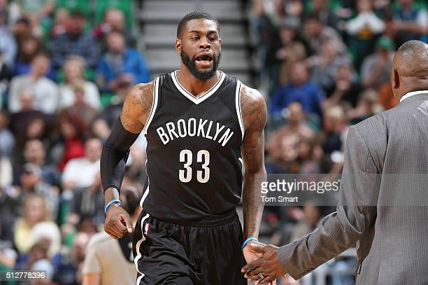Willie Reed of the Brooklyn Nets during the game against the Utah Jazz on February 27 2016 at Vivint Smart Home Arena in Salt Lake City Utah NOTE TO...