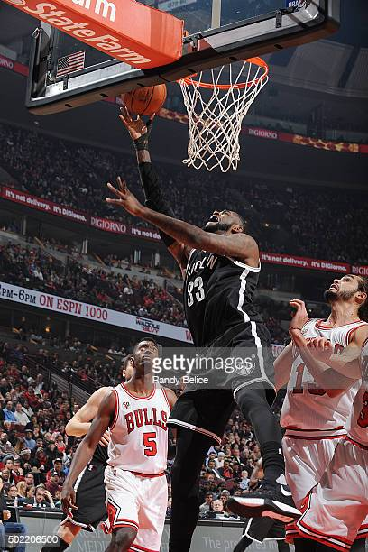 Willie Reed of the Brooklyn Nets shoots the ball against the Chicago Bulls on December 21 2015 at the United Center in Chicago Illinois NOTE TO USER...