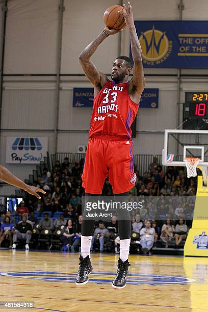 Willie Reed of the Grand Rapids shoots the ball against the Austin Spurs during the 2015 NBA DLeague Showcase presented by SAMSUNG on January 15 2015...