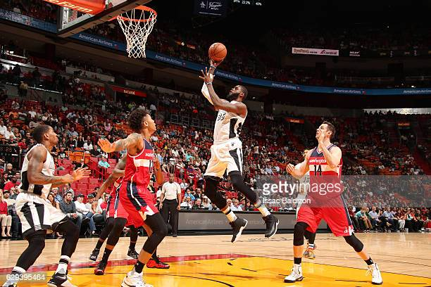 Willie Reed of the Miami Heat goes up for a shot during a game against the Washington Wizards on December 12 2016 at American Airlines Arena in Miami...