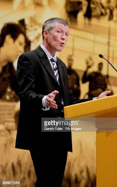 Willie Rennie Leader of the Scottish Liberal Democrats addresses the Liberal Democrat Annual Conference in Brighton