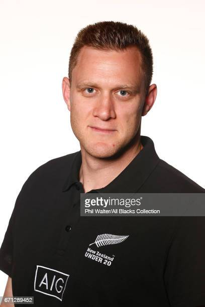 Willie Rickards poses during the New Zealand U20 Headshots Session at Novotel Auckland Airport on April 22 2017 in Auckland New Zealand
