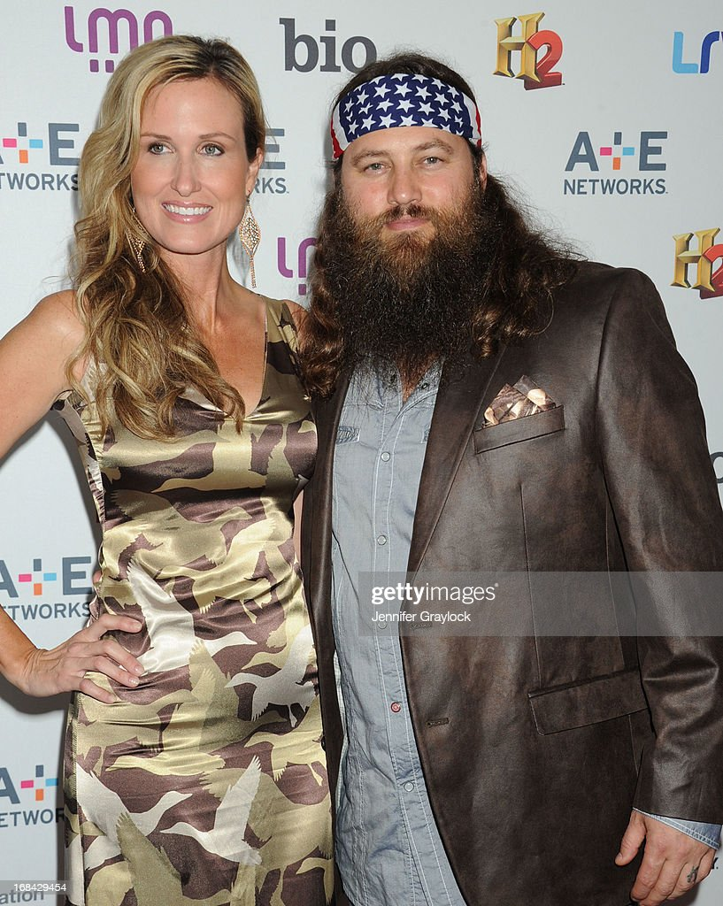 Willie Robertson and Korie Robertson attend the A+E Networks 2013 Upfront at Lincoln Center on May 8, 2013 in New York City.
