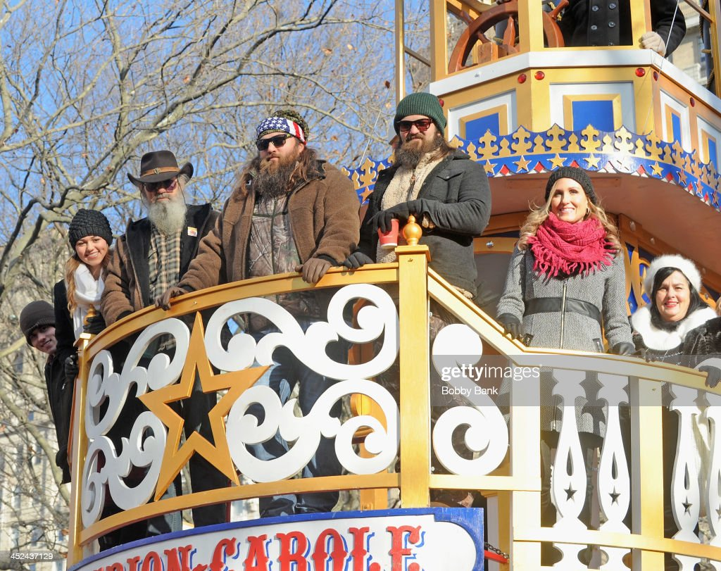 Willie Robertson, Jase Robertson and Phil Robertson of Duck Dynasty attends the 87th annual Macy's Thanksgiving Day parade on November 28, 2013 in New York City.