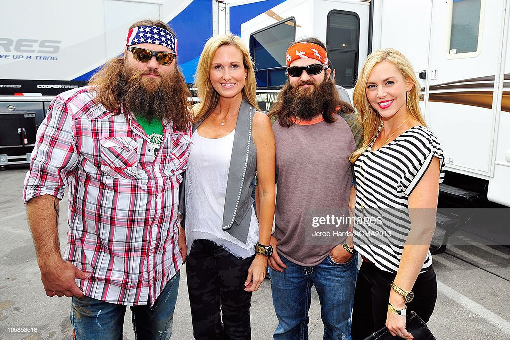 Willie Robertson, Korie Robertson, Jep Robertson and Jessica Robertson of Duck Dynasty attend The ACM Experience during the 48th Annual Academy of Country Music Awards at the Orleans Arena on April 6, 2013 in Las Vegas, Nevada.