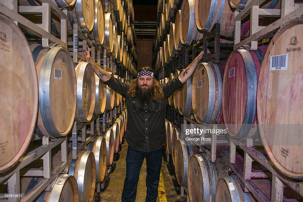 Willie Robertson, star of A&E's hit TV show, Duck Dynasty, is in the Napa Valley to help launch his new wine brand on November 19, 2013, in Saint Helena, California. Produced in conjunction with Trinchero Family Estates, the new celebrity-driven wines include a chardonnay, a red blend, and a sweet moscato.