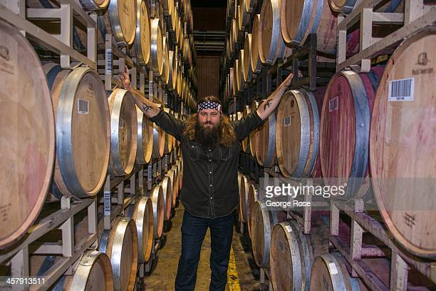 Willie Robertson star of AE's hit TV show Duck Dynasty is in the Napa Valley to help launch his new wine brand on November 19 in Saint Helena...
