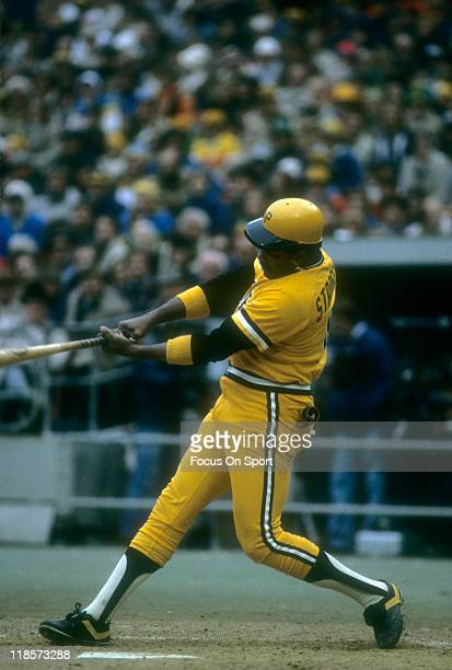 Willie Stargell of the Pittsburgh Pirates bats during a Major League Baseball game circa 1979 at Three Rivers Stadium in Pittsburgh Pennsylvania...