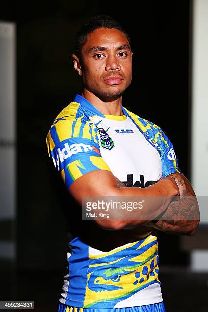 Willie Tonga of the Parramatta Eels poses during a NRL Nines media announcement at Rugby League Central on December 12 2013 in Sydney Australia