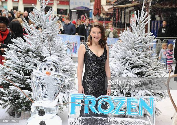 Williemijn Verkaik attends the celebrity screening of Disney's 'Frozen' on November 17 2013 in London United Kingdom