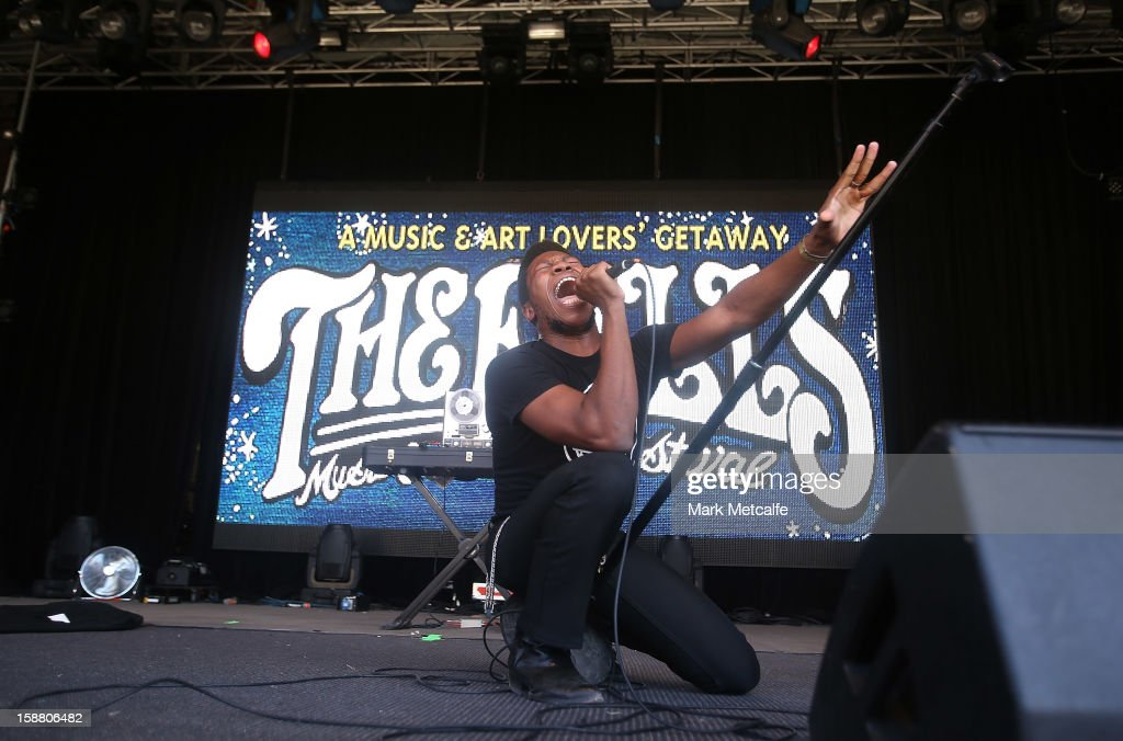 Willis Earl Beal performs live on stage at The Falls Music and Arts Festival on December 30, 2012 in Lorne, Australia.