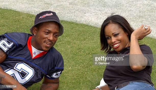 Willis McGahee Buffalo Bills and Pam Oliver Fox Sports