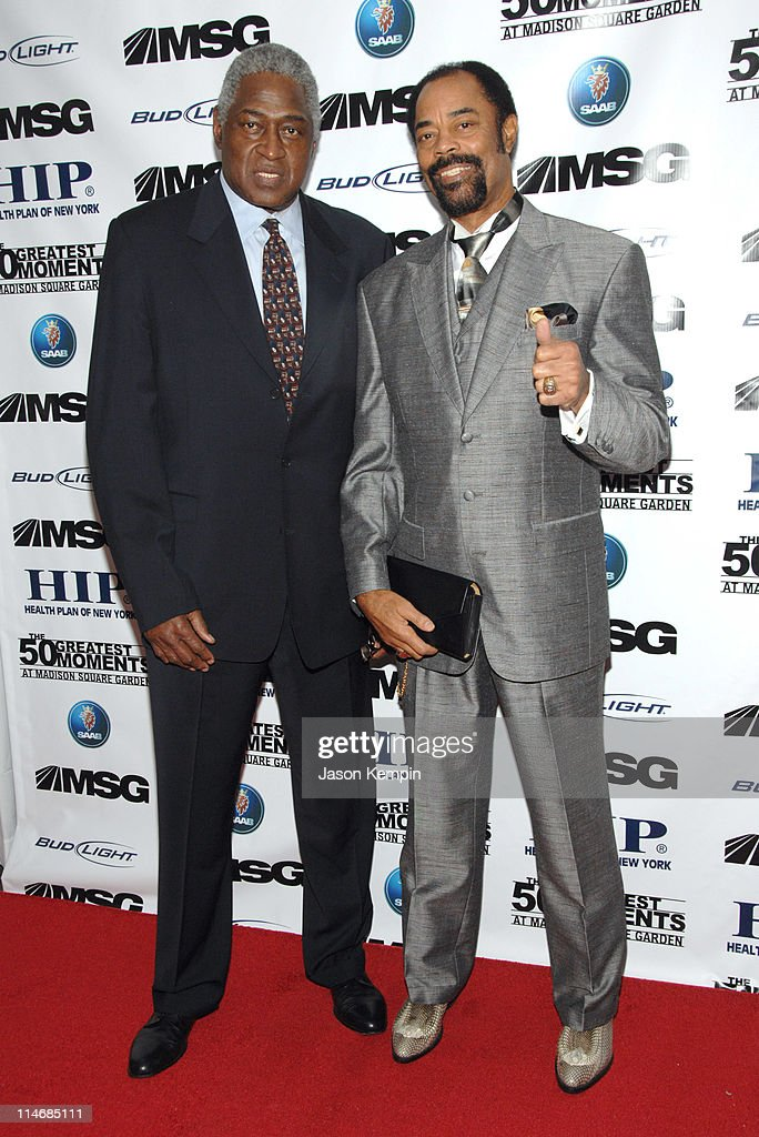 Willis Reed and Walt Frazier during 'The 50 Greatest Moments At Madison Square Garden' New York Screening January 18 2007 at The Club Bar Grill in...