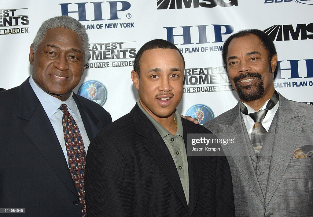 Willis Reed John Starks and Walt Frazier during 'The 50 Greatest Moments At Madison Square Garden' New York Screening January 18 2007 at The Club Bar...