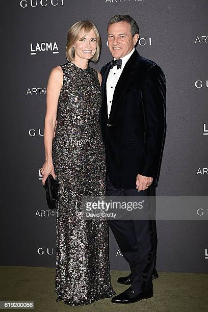 Willow Bay and Bob Iger attend the 2016 LACMA ArtFilm Gala Arrivals at LACMA on October 29 2016 in Los Angeles California