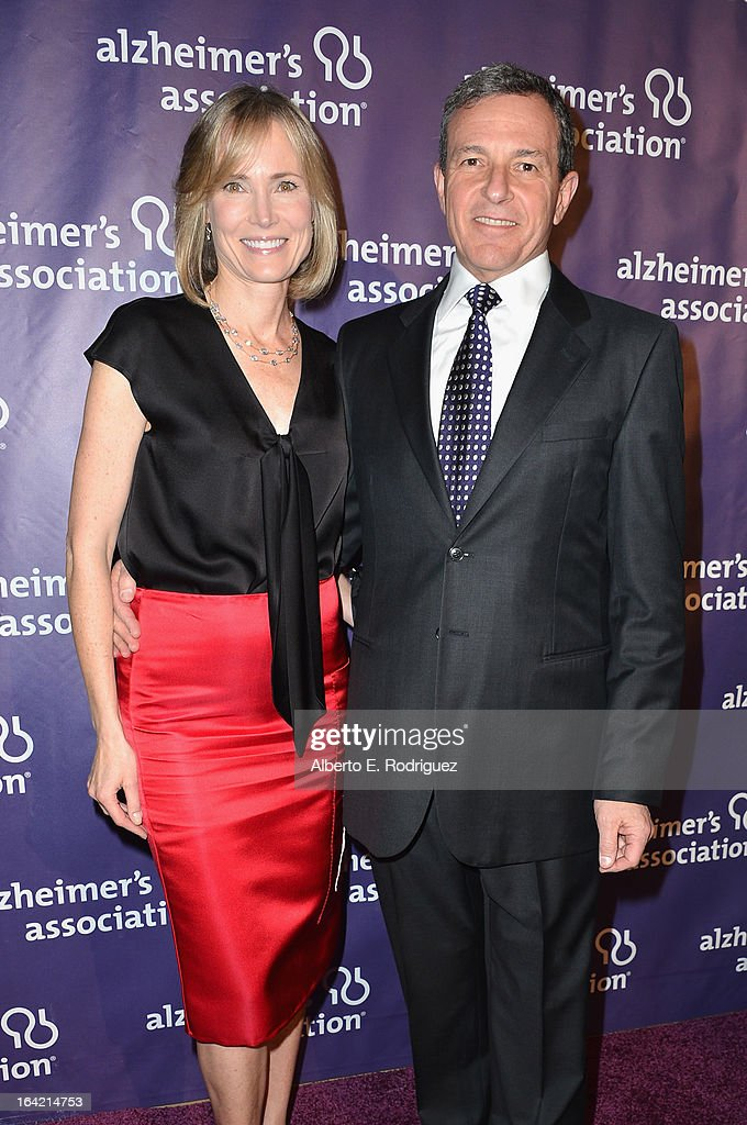 Willow Bay and Chairman and CEO of the Walt Disney Company Bob Iger arrive of The Walt Disney Compan arrives at 21st Annual 'A Night At Sardi's' gala benefiting the Alzheimer's Association - Arrivals at The Beverly Hilton Hotel on March 20, 2013 in Beverly Hills, California.