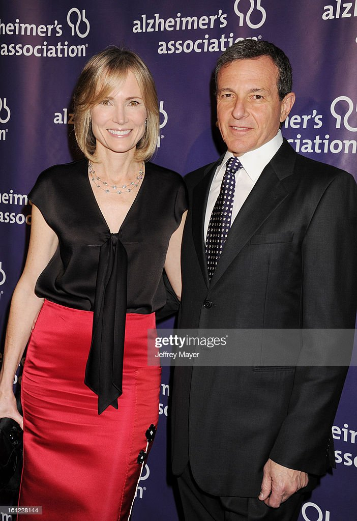 Willow Bay and Chairman/CEO of Walt Disney Company and Bob Iger arrive at the 21st Annual 'A Night At Sardi's' to benefit the Alzheimer's Association at The Beverly Hilton Hotel on March 20, 2013 in Beverly Hills, California.