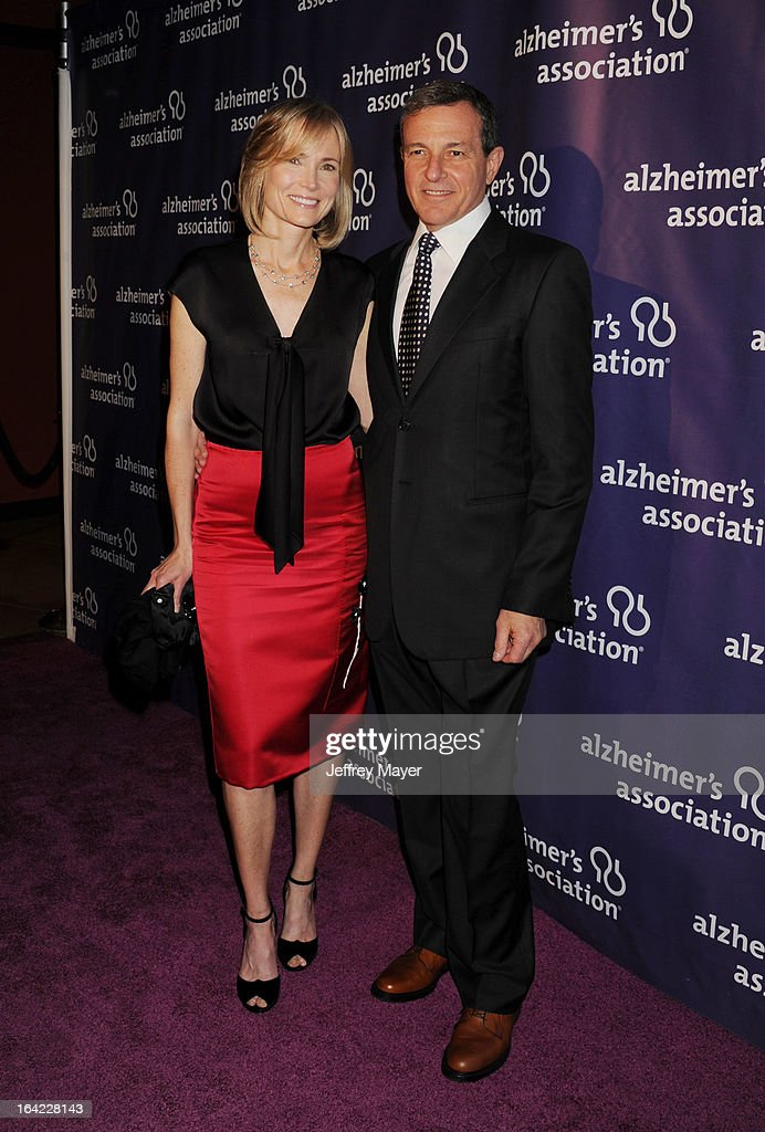 Willow Bay and Chairman/CEO of Walt Disney Company Bob Iger arrive at the 21st Annual 'A Night At Sardi's' to benefit the Alzheimer's Association at The Beverly Hilton Hotel on March 20, 2013 in Beverly Hills, California.