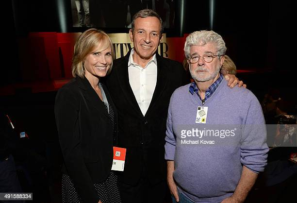 Willow Bay Walt Disney Company Chairman and CEO Bob Iger and filmmaker George Lucas attend the Vanity Fair New Establishment Summit at Yerba Buena...