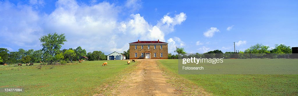 Willow City School from 1904, Fredericksburg, Texas : Stock Photo